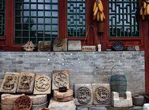 Ancient Chinese buildings and towns Royalty Free Stock Photos