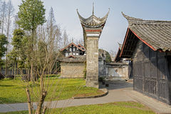 Ancient Chinese buildings in verdant spring Royalty Free Stock Images