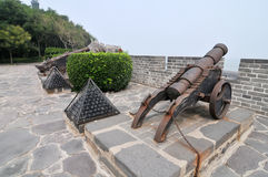 Ancient Chinese cannon Stock Photography