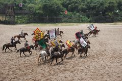 Ancient Chinese  cavalry Stock Photos