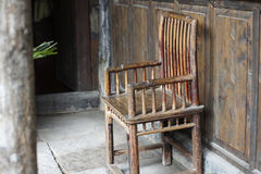 An ancient Chinese chair Royalty Free Stock Photography