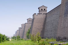 Ancient Chinese city wall. In China royalty free stock photo