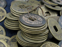 Ancient chinese coins Stock Images