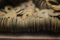 Ancient Chinese coins Stock Photography