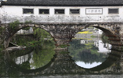 Ancient Chinese covered bridge Stock Image