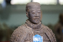The ancient Chinese cultural relics of the Terra Cotta Warriors. Qin shihuang terracotta warriors is the world's largest underground military museum. Pit layout Royalty Free Stock Image