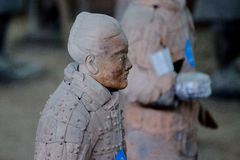 The ancient Chinese cultural relics of the Terra Cotta Warriors Royalty Free Stock Photo
