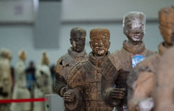 The ancient Chinese cultural relics of the Terra Cotta Warriors Royalty Free Stock Images