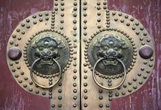 Ancient chinese door Stock Photos