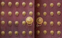 Ancient chinese door Stock Photography