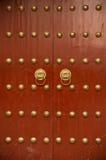 Ancient chinese door Stock Photo