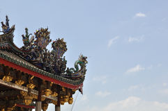 Ancient Chinese Dragon Roof Royalty Free Stock Image