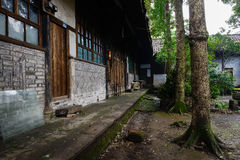 Ancient Chinese dwelling buildings after summer rain Royalty Free Stock Images