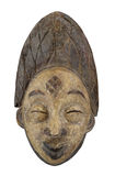 Ancient Chinese face relief isolated Stock Photos