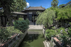 Ancient Chinese Garden Apartments Royalty Free Stock Photos