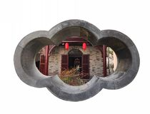 The ancient Chinese garden house Stock Images