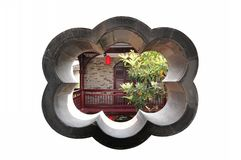The ancient Chinese garden house Stock Image