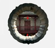 The ancient Chinese garden house Royalty Free Stock Photos