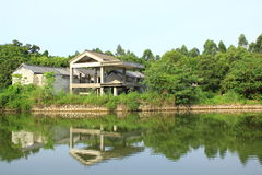 Ancient Chinese Garden. An ancient Chinese garden with a lake.typical of southern Chinese style in Qing dynasty Stock Photography