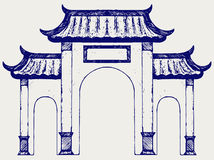 Ancient Chinese gate Royalty Free Stock Photography
