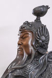Ancient Chinese generals head sculpture Royalty Free Stock Photo
