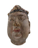Ancient Chinese head bust isolated. Stock Image