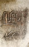 Ancient Chinese hieroglyphs Stock Photography