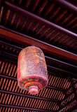 Ancient chinese house interior stock photography
