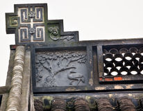 Ancient Chinese House Roof Stock Images