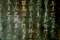 Ancient Chinese inscriptions Royalty Free Stock Photography