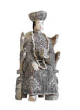 Ancient Chinese Ivory Statue Isolated. Royalty Free Stock Photography