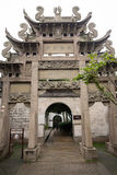 An ancient Chinese memorial archway Royalty Free Stock Images