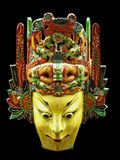 Ancient Chinese Minority Mask. Isolated view of and ancient Chinese minority ceremonial mask Royalty Free Stock Images