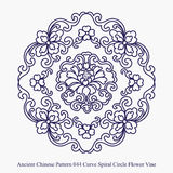Ancient Chinese Pattern of Curve Spiral Circle Flower Vine Stock Images