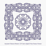 Ancient Chinese Pattern of Curve Spiral Vine Frame Flower Royalty Free Stock Photography