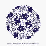 Ancient Chinese Pattern of Gourd Flower Leaf Vine Royalty Free Stock Image