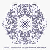 Ancient Chinese Pattern of Polygon Spiral Vine Gourd Flower Royalty Free Stock Images