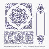 Ancient Chinese Pattern of Spiral Curve Border Frame Flower Royalty Free Stock Image