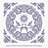 Ancient Chinese Pattern of Spiral Flower Frame Pigeon Royalty Free Stock Images