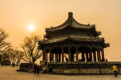 Ancient chinese pavilion in Beijing, China royalty free stock photo