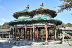 Ancient Chinese pavilion. Bicyclic Wanshou Pavilion in Temple of Heaven Stock Images