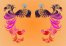 Ancient Chinese Phoenix pattern Stock Photo