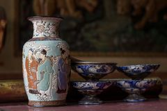 Ancient chinese porcelain vase Stock Images
