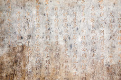 Ancient Chinese Script Stock Photography