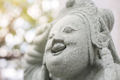 Ancient Chinese stone carvings stock photo