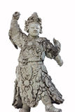 Ancient chinese stone sculpture doll, isolated on white Stock Photo