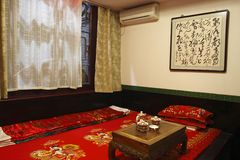 Ancient Chinese-style bedroom Stock Images