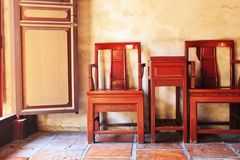 Ancient Chinese table and chairs Royalty Free Stock Images