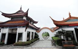 Ancient Chinese temple pagoda castle. Shot of Ancient Chinese temple pagoda castle Stock Images