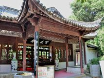 Ancient Chinese temple pagoda castle. Shot of Ancient Chinese temple pagoda castle Stock Photos